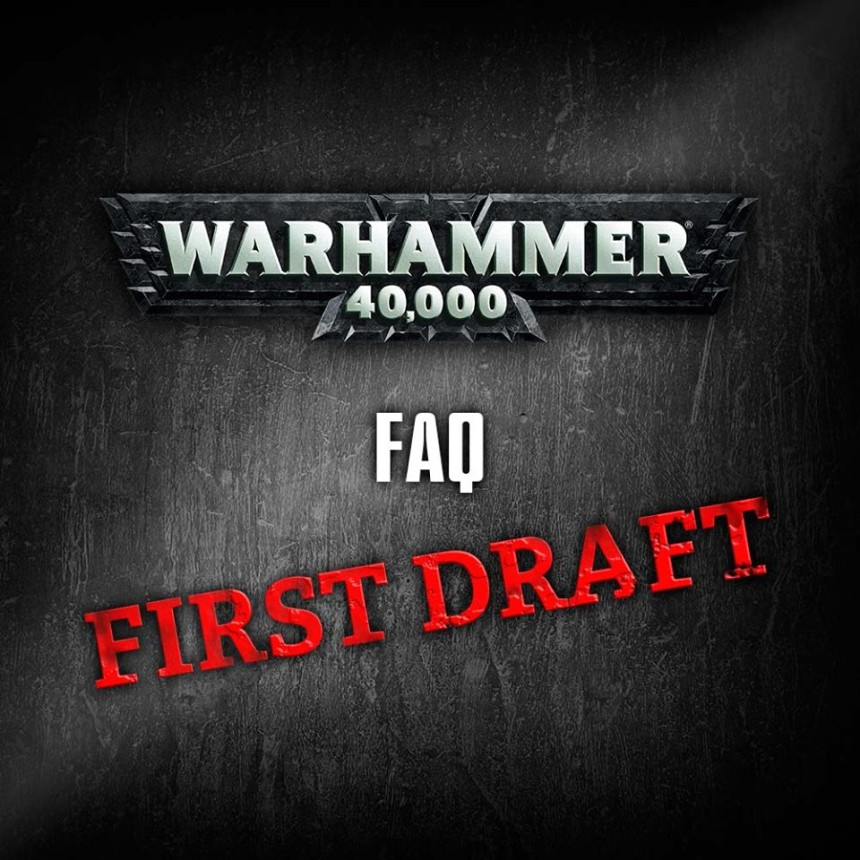 W40K : GW draft nových FAQ 2/2