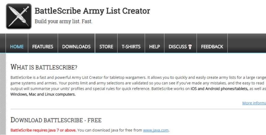 Tutorial : Battle Scribe