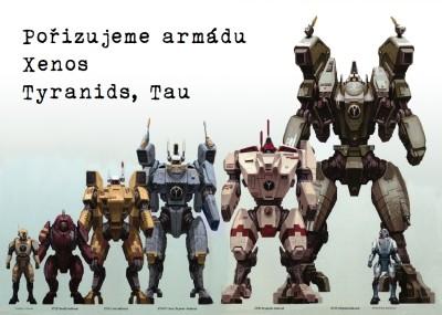 W40K – Pořizujeme armádu – Xenos (Tyranidé, Tau)
